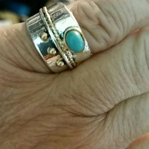 Jewelry - Polished 925 sterling silver & turquoise